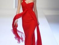 2016 K�rm�z� Abiye Elbise