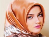 2013 Kahverengi Eşarp Modeli