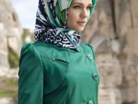 2013 Yeşil Eşarp Modeli