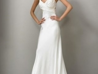 Beyaz Sade Abiye Elbise