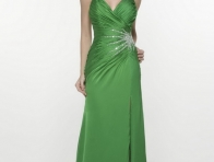 Ye�il Renk Abiye Elbise Modeli