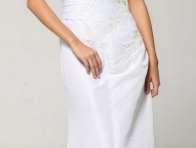 Beyaz Renk Abiye Elbise Modeli