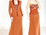 Renkli Abiye Elbise Takımı