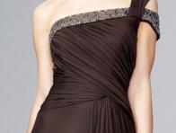 Kahverengi Abiye Elbise Modeli