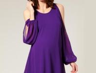 Mor Renk Abiye Elbise Modeli