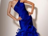 Mavi Renk Abiye Elbise Modeli