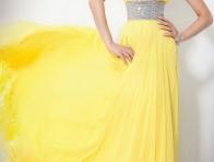 Sarı Abiye Kıyafet Modeli