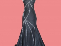 Siyah Renk şık Abiye Elbise Modeli