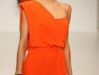 Turuncu Renk Abiye Elbise Modeli