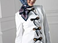 Armine Beyaz Pardesü Modeli