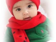 Bebek için Bere Atkı Modelleri