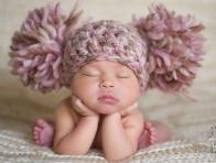Bebekler için Kışlık Örgü Bere örnekleri
