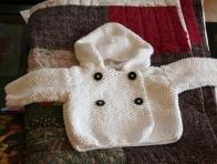 Beyaz Erkek Bebek Hırkaları