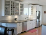 Beyaz Renk Mutfak Dolab� �rnekleri