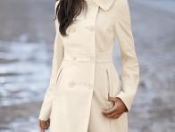Beyaz Uzun Bayan Kaban