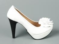 Beyaz �i�ekli Platform Ayakkab�