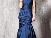 Bolerolu Mavi Abiye Modeli