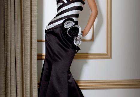 Siyah-Beyaz Gece Kıyafeti