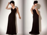 Siyah Desenli Gece Kıyafeti