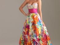 En şık Rengarenk Elbise Modelleri
