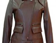 Kahverengi Bayan Deri Ceket