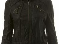 Kap�onlu Bayan Deri Ceket �rnekleri
