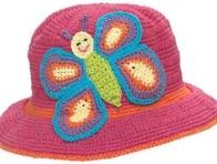 Kelebek Figürlü Bebek Şapkası