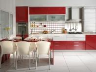Kırmızı 2013 Ankastre Mutfak Döşeme