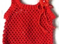Kırmızı Bebek Süveter Modelleri