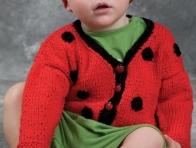 Kırmızı Erkek Bebek Hırkası