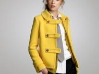 Sarı Kısa Bayan Kabanı