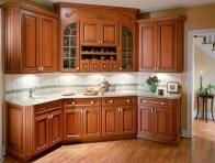 Klasik Ahşap Model Yeni Mutfak Dolapları
