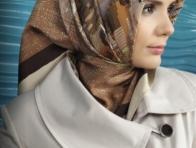 Krem Renkli Tekbir Giyim Eşarp Modeli