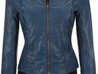 Mavi Bayan Deri Ceketleri