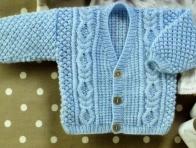 Mavi Erkek Bebek Hırka Modeli