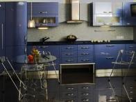 Mavi Renkli Mutfak Dolab� �rnekleri
