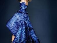 Mavi Versace Abiye Modeli