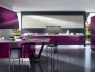 Mutfak Mobilyalar�nda Mor Renk
