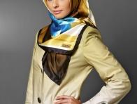 Sarı Tekbir Giyim Eşarp Modeli
