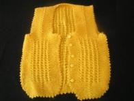 Sarı Örgü Bebek Yeleği Modelleri