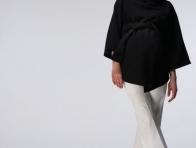 Siyah Panço Hamile Kıyafetli