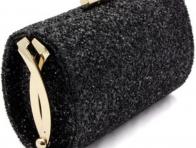 Siyah Payet Abiye Çanta Modeli