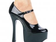 Siyah Topuklu Platform Ayakkabı