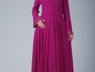 Renkli Tesett�r Abiye Elbise