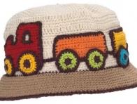 Tren Desenli Erkek Çocuk Şapka Modeli