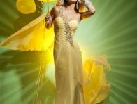 Sarı Uzun Abiye