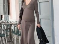 Uzun Hamile Günlük Elbise Modeli