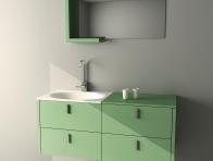 Yeşil Banyo Dolabı Örnekleri