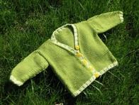 Yeşil Erkek Bebek Hırka Örnekleri