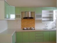Ye�il Renk Mutfak Dolab� �rnekleri